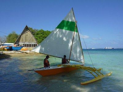 Marshallese canoe replica