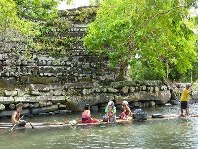 Locals at Nan Madol ruins