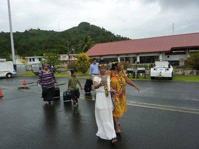 Boarding on Chuuk