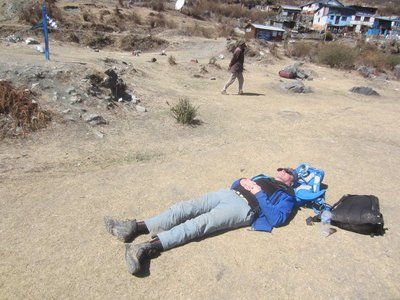 Rob Sunbathing at Talcha Airport