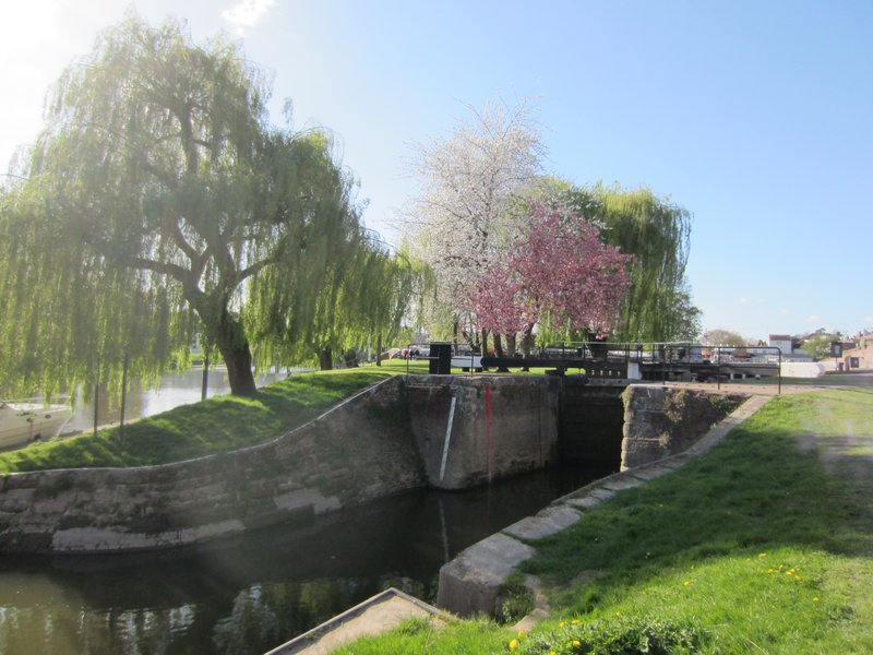 The Locks on the Staffordshire and Worcester canal at Stourport on Severn