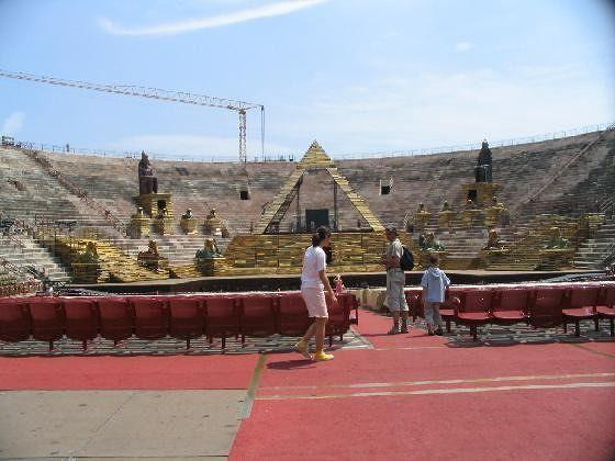 "Arena, preparations for ""Aida"" - Verona"