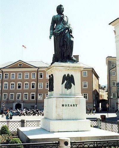 Mozart Denkmal, Salzburg, Austria 2000 - Salzburg