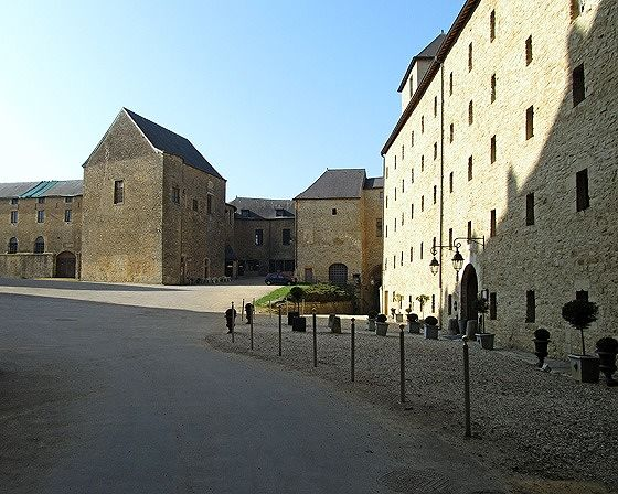 courtyard, Château Fort de Sedan, France 2011 - Sedan