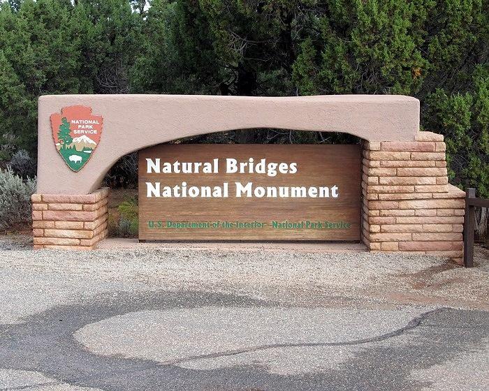 entrance, Natural Bridges, Utah, US 2015 - Natural Bridges National Monument