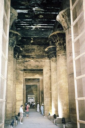 Temple Columns, Edfu, Egypt 2001 - Idfu