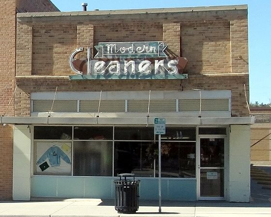 Modern Cleaners, Newcastle, Wyoming, US 2015 - Newcastle