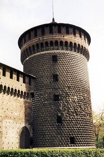 Castello Sforzesco tower, Milan, Italy 1998 - Milan