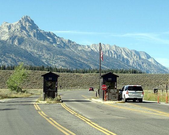 entrance, Grand Teton National Park, WY, US 2015 - Grand Teton National Park
