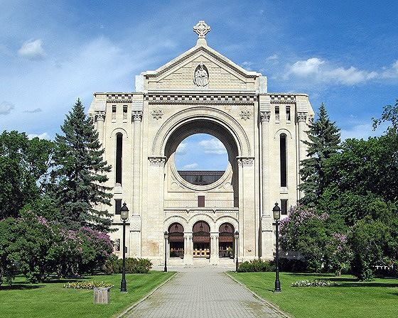 Cathedral, St Boniface, Winnipeg, Canada 2008 - Saint Boniface