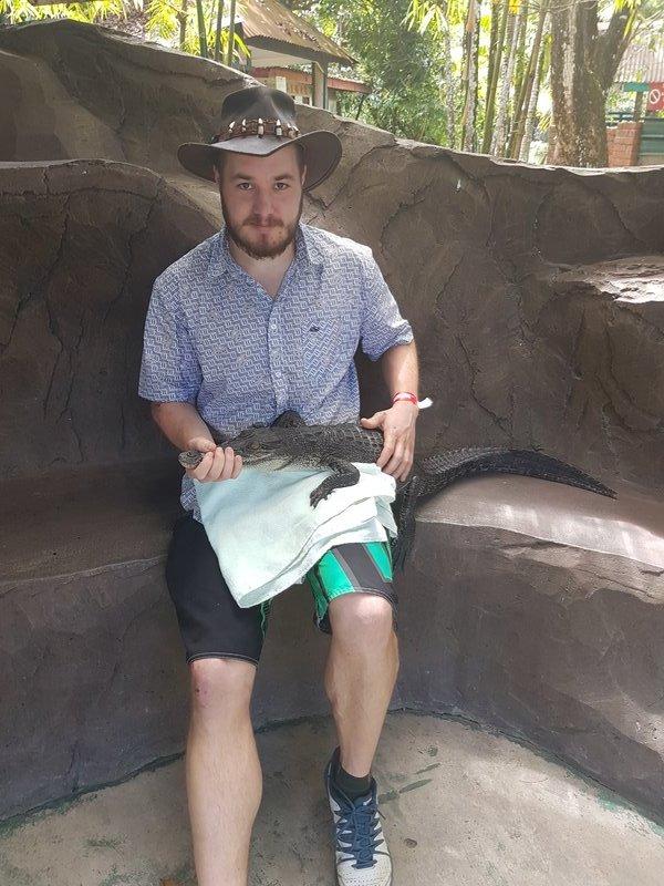crocodile farm near Miri