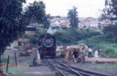 Loading the Wood into the Tender - Campinas