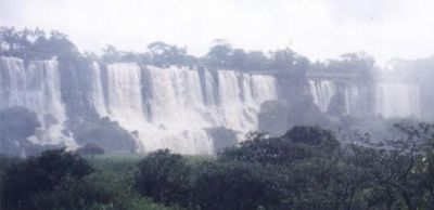 The falls from the Island on the Argentine Side - Parque Nacional del Iguazù
