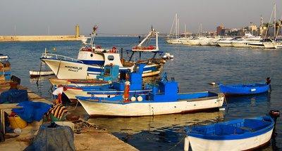 boats in Bari