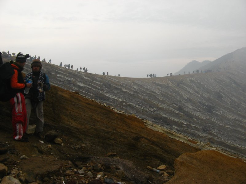 ijen crater east of java Indonesia