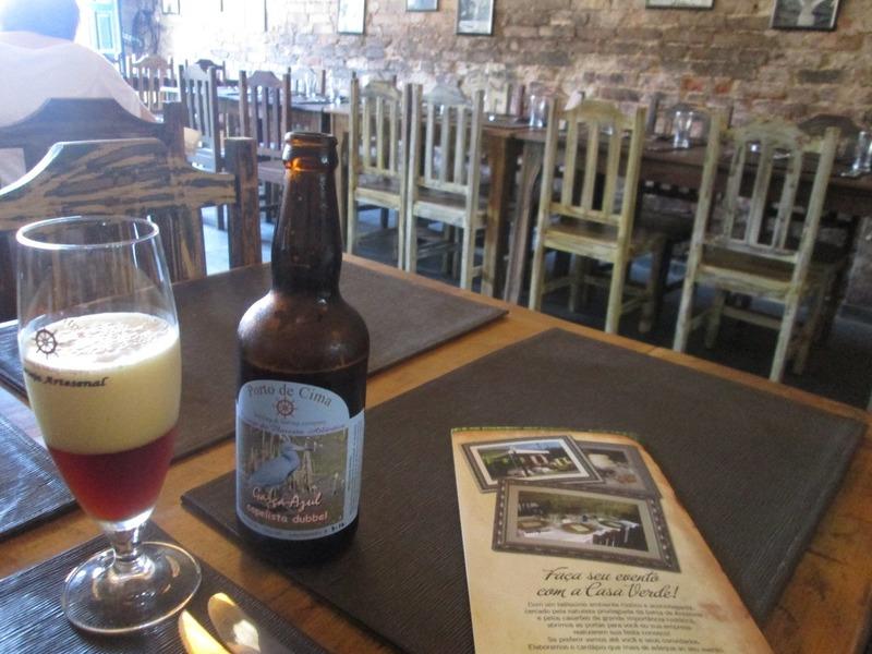 Porto de Cima beer at Cantina Casa Verde