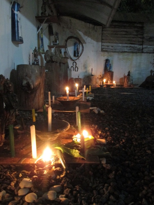 The macumba shrines