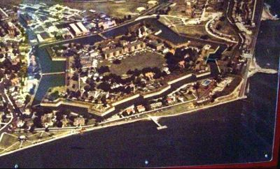 Fort from the air in 1967 - Hampton
