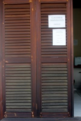 Customs office at La Phare Bleu - Grenada