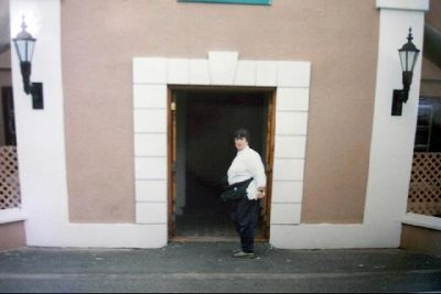 Me standing in the town hall entrance door