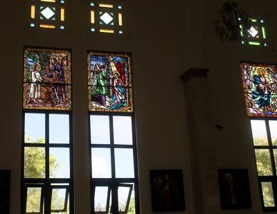 Stained glass in St. Philip the Apostle