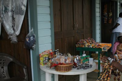 Beads and small items in a basket - Grenada