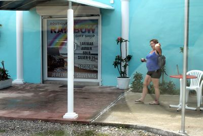 Lynde outside the Rainbow Gift Shop - Puerto Plata