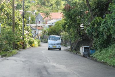 bus driving on the left - Grenada