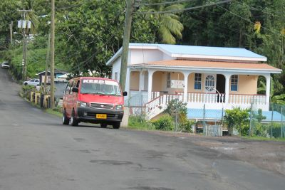 Red minivan-bus - Grenada