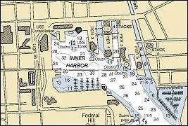 Chart of the marina - Baltimore