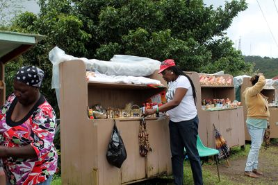 Stands with handicrafts - Grenada