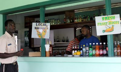 Fruit juice or rum punch - Grenada