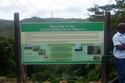 Welcome to the Park sign - Grenada