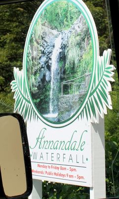Waterfall sign - Grenada