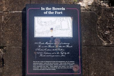 Sign about the fort - Saint George's