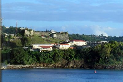 Forts from a cruise ship - Grenada