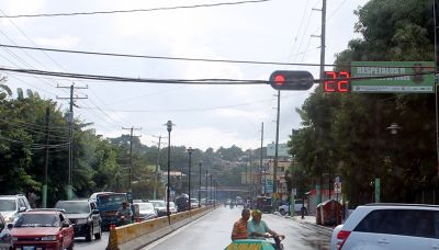 Red light with countdown timer - Puerto Plata