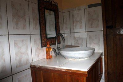 Bathroom sink at Belview