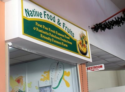 Restroom sign by Native Fruits