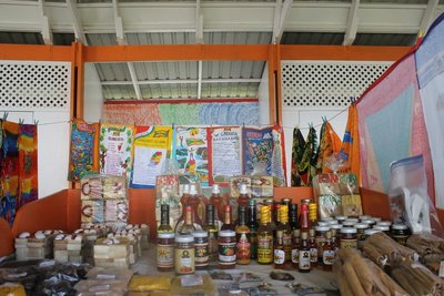 Display of spices and crafts