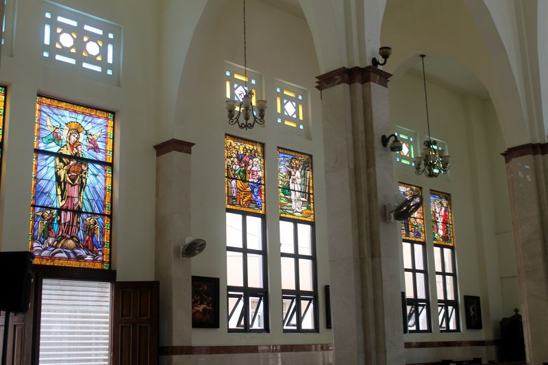 Some of the stained glass windows - Puerto Plata