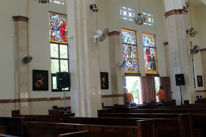 Stained glass in the Cathedral - Puerto Plata