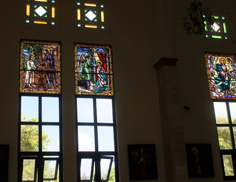 Stained glass in St. Philip the Apostle Cathederal - Puerto Plata