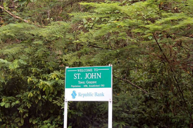Sign as you enter Saint John Parish - Saint John