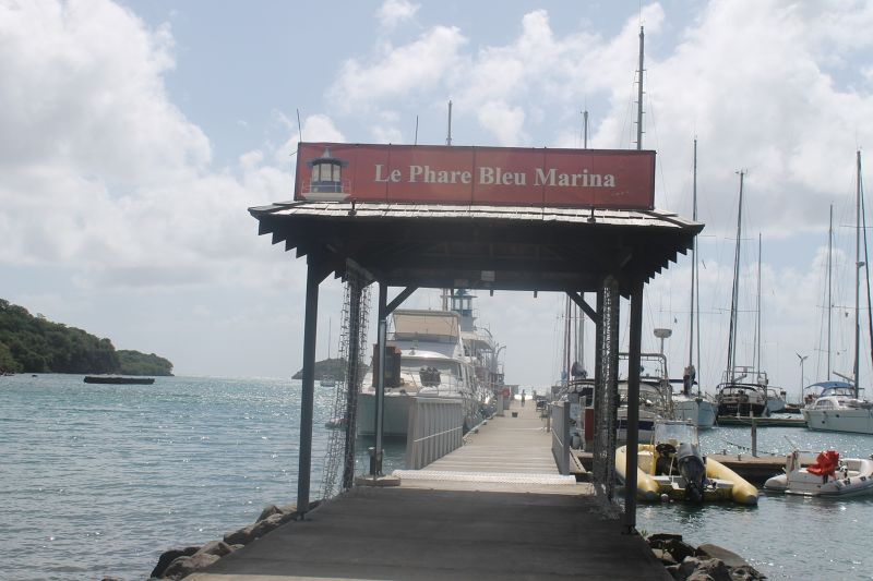 Entrance to La Phare Bleu Marina docks - Grenada