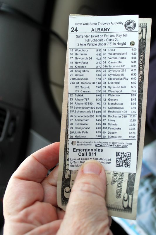 Toll ticket - Stroudsburg