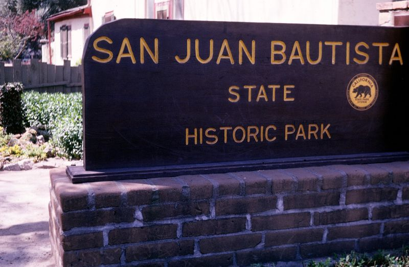 Sign about the state park - San Juan Bautista