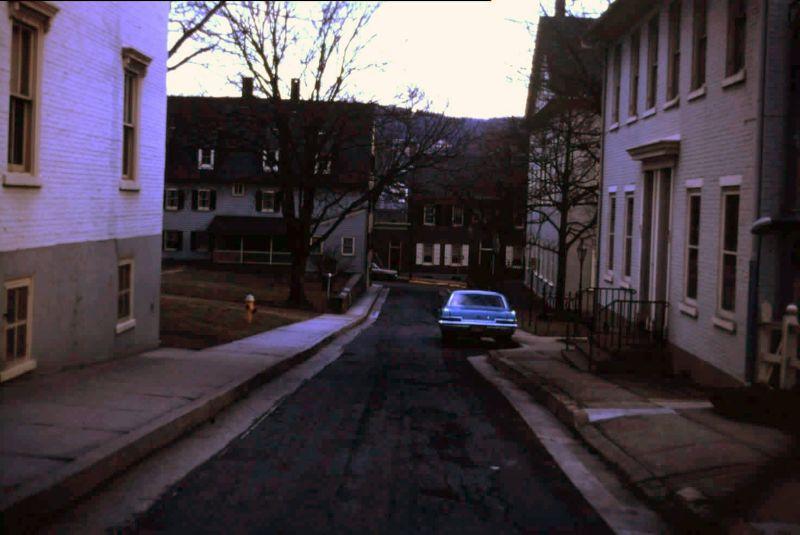 Street in 1969 at dusk - Bethlehem