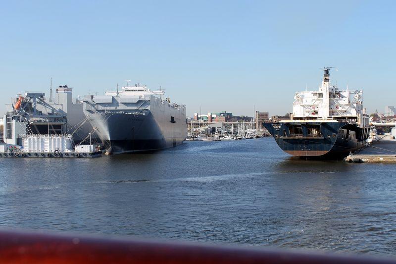 Marina between two ships - Baltimore