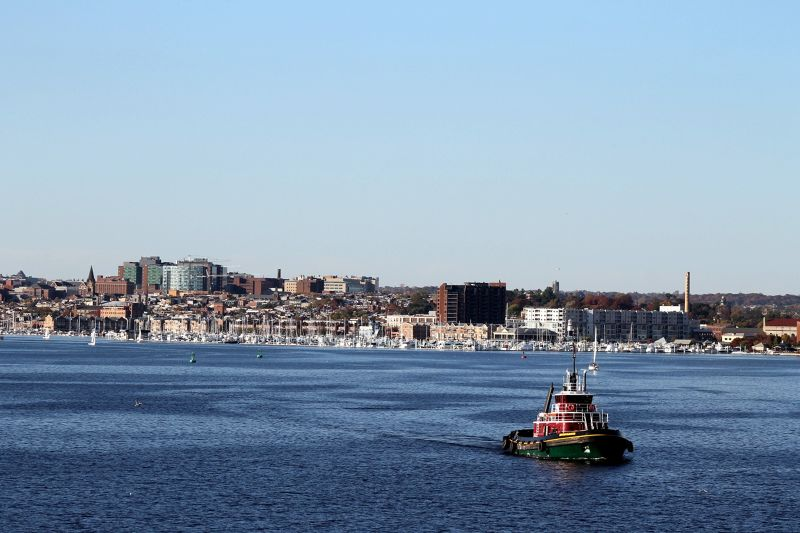 Marina behind tug - Baltimore